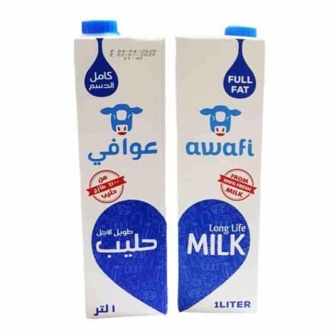 Awafi Full Fat Long Life Milk Awafi 1