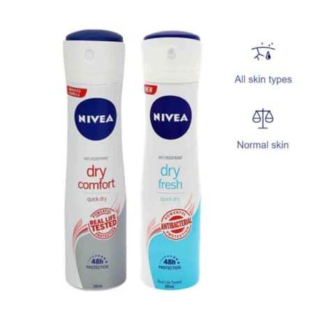 NIVEA Antiperspirant Protection (Deodorant Spray) Dry Comfort Frsh