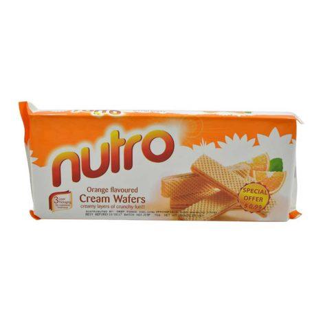 Nutro Flavoured Cream Wafers 150g Nutro Cream Wafers Orange Flavoured