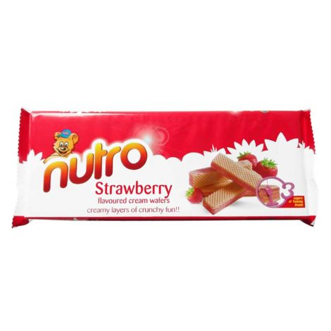 Nutro Flavoured Cream Wafers 150g Nutro Cream Wafers Straberry Flavoured